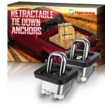Tigeracing Retractable Truck Bed Side Wall Tie Down 1001 Anchors